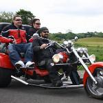 Couple enjoying Durham city trike tour