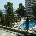 The pool - view from the balcony