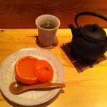 delicioso postre de casero con el famoso té verde japonés