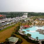 view of the pool & marina from room 1-1104