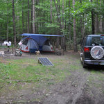 Our Campsite in the Seneca Village