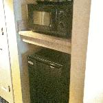 Microwave and refrigerator available