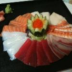 sashimi platter by Chef Anna