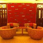 Hotel reading lounge
