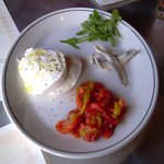 Mozz. Burrata W Anchovies & Peppers