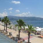 view from emre beach