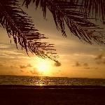 Couché de soleil depuis la marina