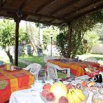 zona colazione giardino
