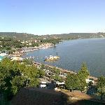 meravigliso panorama del lago dalla torre medioevale