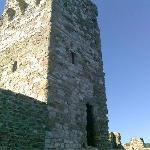 torre medioevale ben tenuta e conservata, e con un assistente al controllo dell'ingresso