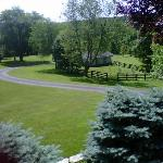 View of the Paddock from the Porch of The Welsh Hills Inn - Granville Ohio Bed & Breakfast