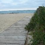the beach at the end of the street