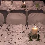 Table decor at Savannah Restaurant for our Wedding