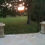 Sunset on the back patio