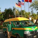 """Complimentary Shuttle bus """"Reggae Bus'"""