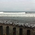 Pt break one hour before high tide