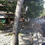 Warungs on the beachfront