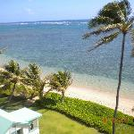 The view from the lanai.  Beautiful beach and snorkeling waters.