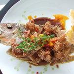 fried fish - popular choice.
