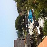 Terrace pool view
