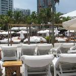 Nikki Beach view from lounge chair area