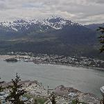 Juneau's harbor viewed from Mt. Roberts Tramway