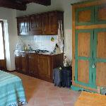 kitchenette and front door