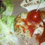 gateau tiède aux cèpes avec son coulis de tomates
