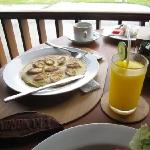 Breakfast is prepared instantly i.e. not buffet which is a good thing! The view and tranquility