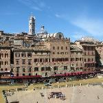 Piazza del Campo vista dalla torre del Mangia
