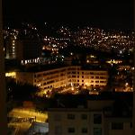 View from our room at night