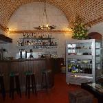 main room with bar