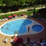 One of the hotel swimming pools