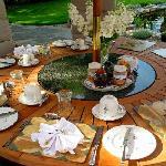 outdoor breakfast table