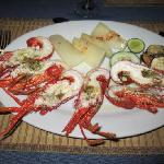 Langoustines! My favorite meal on the island!