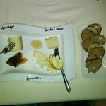 An ambitious cheese plate - interesting - good sweets too if that's your style....