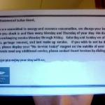 Hotel Cleaning Policy.  Did not adhere to it at all.