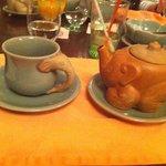 cute elephant tea set