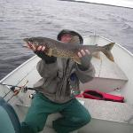 My first Lake Trout - there are plenty of them