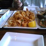 Oysters and Calamari - not a bad start!