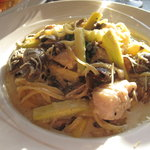 The seafood pasta - very generous portions of seafood, but the salmon special was even better