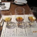 Flight of (Woodford Reserve) whiskeys
