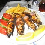 Shrimps at The Caravan Restaurant