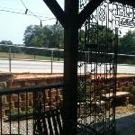 front porch at Jittery Joes