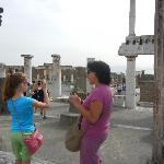 Lucia with my niece, near the Forum at Pompeii
