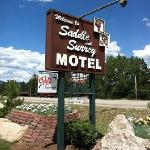 Motel sign right on route 7