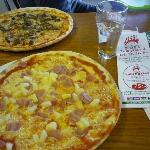 Hawaiian Pizza and Bolognese Pizza