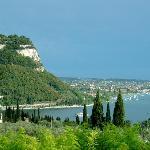 Il panorama dal ristorante san Michele a Marciaga, Garda