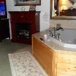 In-room jacuzzi tub