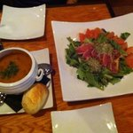 fish soup and tuna salad